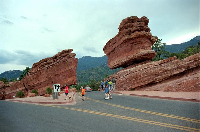 Our Home Page Colorado 2001 7 14 Balancing Rock Garden Of The Gods Colorado Springs Co